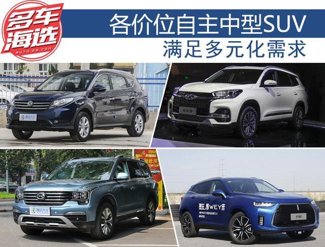 满足多元化需求 各价位优质自主中型SUV