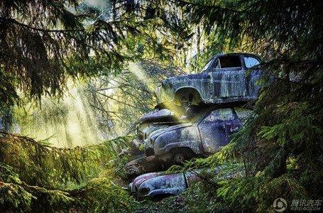 那些被遗忘在野外的汽车残骸