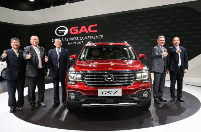 """百年来首个进入北美车展主场的中国品牌,""""硬派5座SUV""""传祺GS7全球首发"""