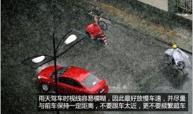 避免暴雨天气行车隐患