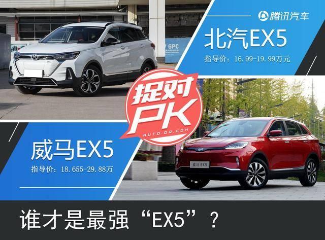 谁是最强EX5 北汽EX5全面对比威马EX5