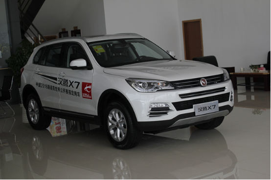 简约而不简单 腾讯汽车实拍汉腾首款SUV—汉腾X7