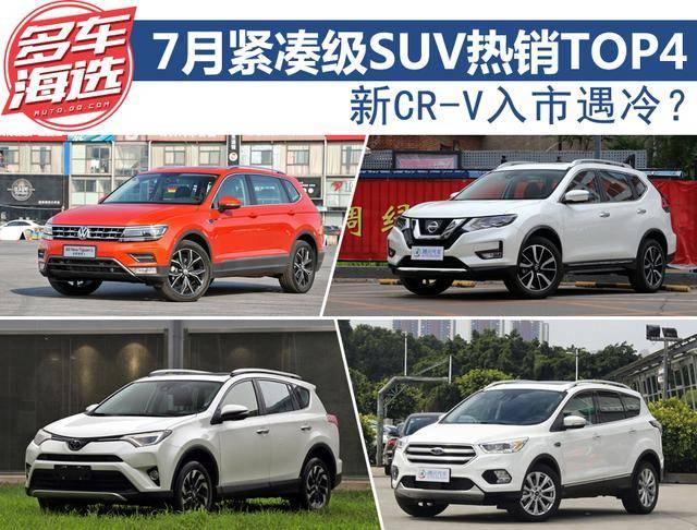 新CR-V入市遇冷?7月紧凑级SUV热销TOP4