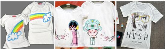 3,亲子手绘创意t恤