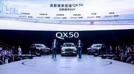 创新豪华SUV全新英菲尼迪QX50正式上市