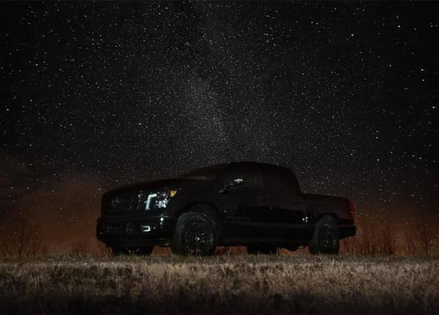 日产发布Titan午夜版官图 暗黑元素更加激进