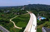 泸州至合江产城大道本月底完成全部建成