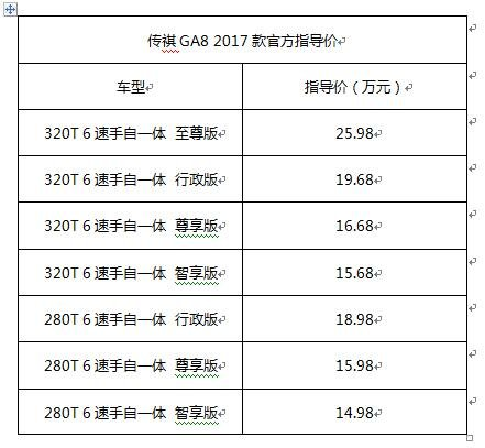 敢享敢超越--广汽传祺2017款GA8南宁上市会即将举行