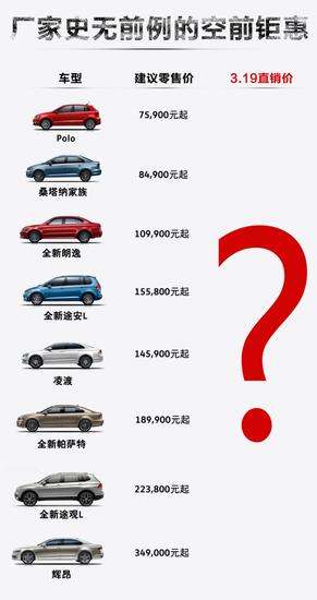 """3月19日上汽大众2小时限时抢购会!火""""利""""全开 刷新底价!"""