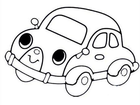 车辆儿童手绘画