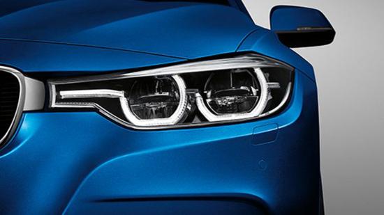 LED大灯为BMW 3系醒目的前部增添了现代格调