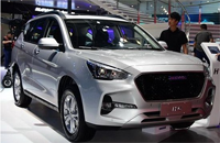 新款哈弗H6亮相广州车展 悬浮车顶设计