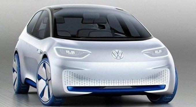 巴黎车展亮相 大众全新电动车官图发布