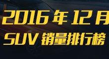 2016年12月SUV销量榜
