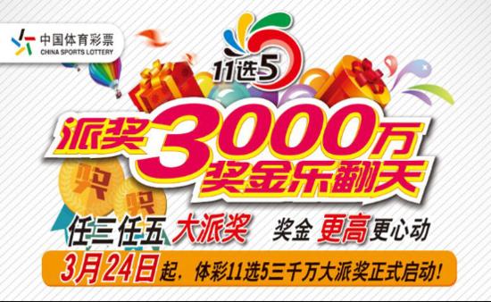 河北体彩11选53000万元大派奖火爆开启_频