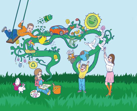 2015BMW童心绘未来展出首批儿童绘画作品图片