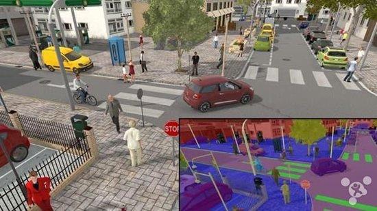为了测试无人车 科学家创建了一座虚拟城市
