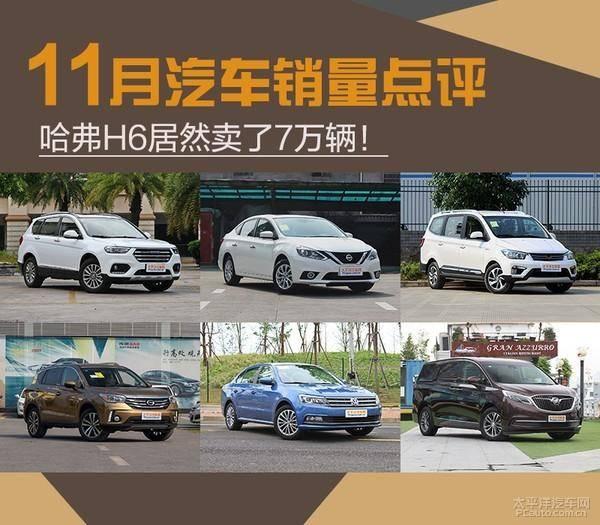11月汽车销量点评 哈弗H6居然卖了7万辆