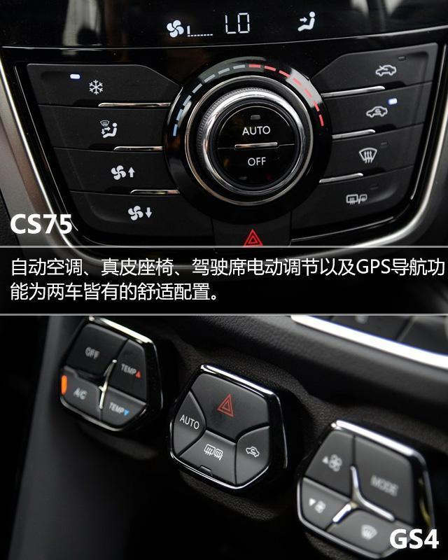 安CS75对比广汽传祺GS4-长安CS75对比传祺GS4 兼具高品质与性