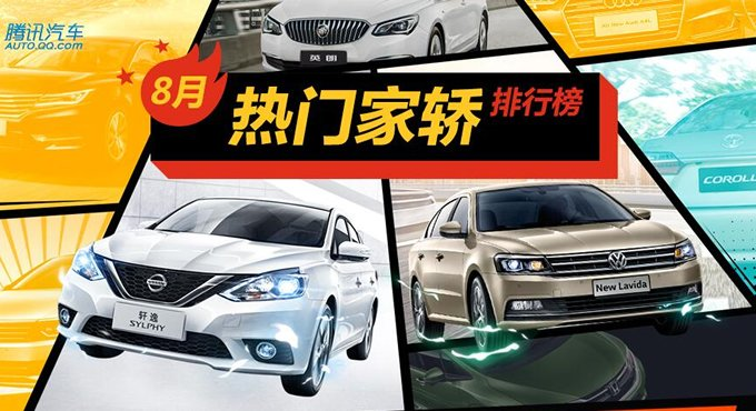 8月热门家轿排行 20款车型优惠大发送