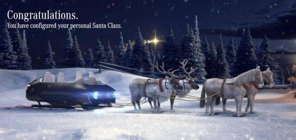 梅赛德斯让你打造属于你自己的圣诞雪橇车
