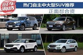 四款热门自主中大型SUV推荐