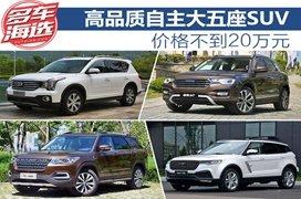 高品质自主大五座SUV面面观