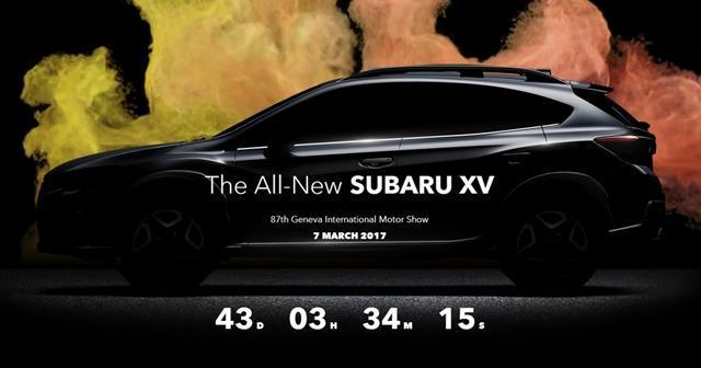 斯巴鲁新XV预告图发布 3月7号日内瓦首发