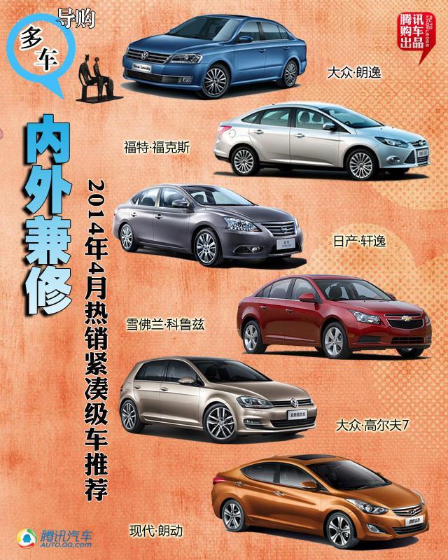 4月份热销紧凑级车型推荐 内外兼修