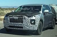 曝现代8座SUV Palisade路试谍照 未来将取代圣达菲XL