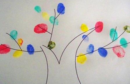手指画颜料DIY 让孩子爱上画画