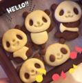 儿童创意餐:高颜值小熊猫饼干