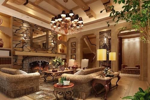 欧式古典风格客厅装修效果图图片
