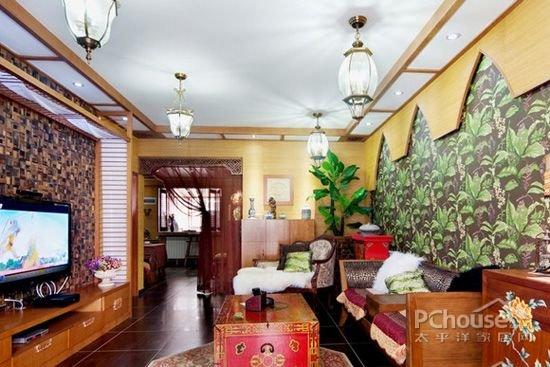 东南亚风格客厅吊顶设计要点
