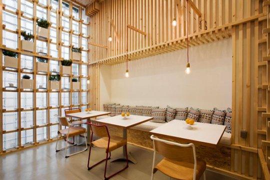 绝妙背景墙设计 打造包装箱式木质空间图片