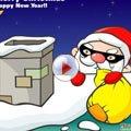 """视频:笨贼学""""圣诞老人"""" 入室盗窃被困烟囱"""