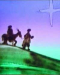 圣诞平安夜沙画《耶稣诞生记》