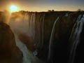 实拍赞比亚壮观维多利亚瀑布