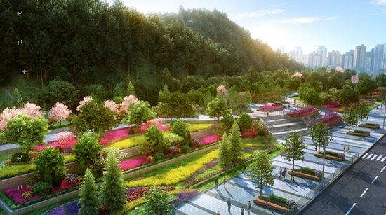 老虎山森林公园后期将规划打造城一座集娱乐