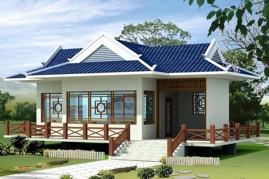 农村带庭院的新中式别墅最耐看,细节上光鲜亮目,难怪这么耀眼!图片