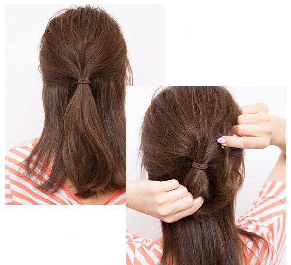 中长发造型扎发方法分享展示