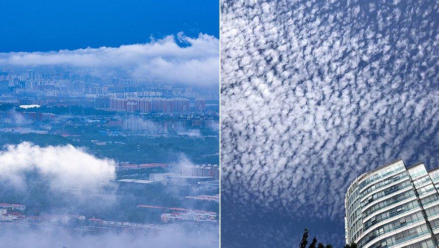 快抬头看!北京雨后天空美得像画