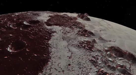 飞跃冥王星2年后,NASA视频展示冥王星复杂地貌