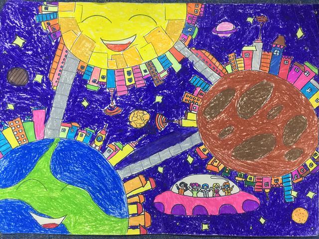"""""""科幻空间美术之星""""青少年科幻画征集大赛优秀作品展示(七)图片"""