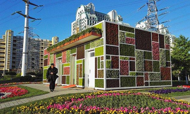 北京这座建筑形似魔方披满植物 据说冬暖夏凉