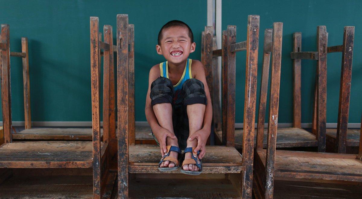河北秦皇岛落地小学:我和我的课桌椅