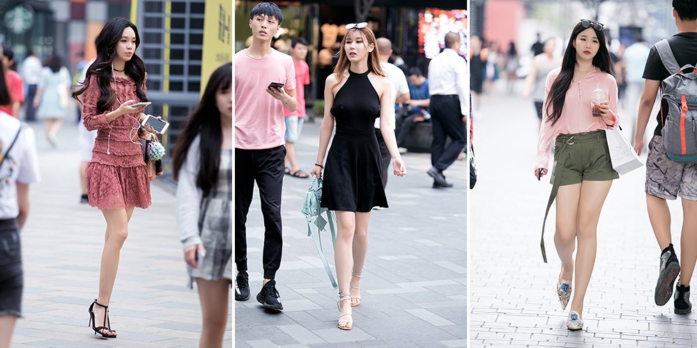 【燕女郎・街拍】三里屯韩系美眉穿搭吸睛 热裤短裙秀撩人美腿