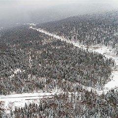 黑龙江十里冰雪画廊呈水墨画景