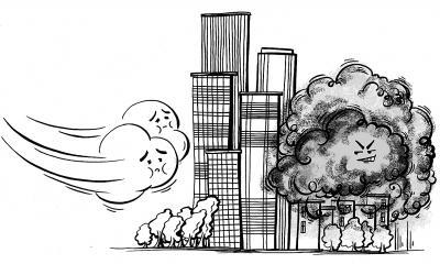风道既可以缓解城市热岛效应,又能为城市创造绿色空间,改善生态环境.
