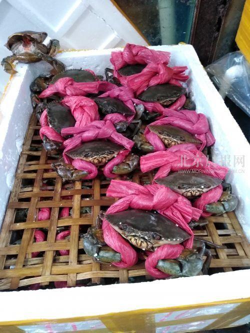 北京虾蟹市场猫腻:76元大螃蟹其中38元是绳子钱